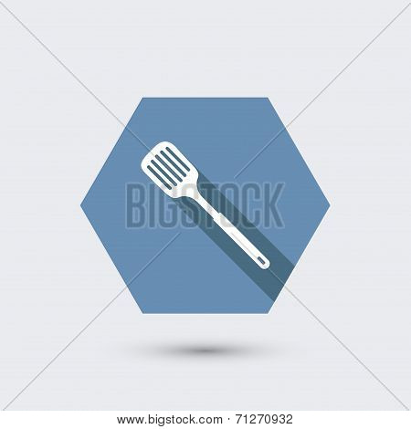 vector modern flat icon with long shadow.