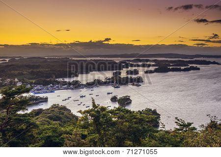 Matsushima, Japan coastal landscape.