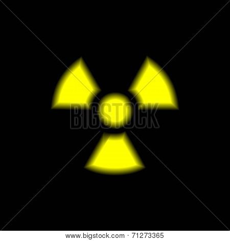Vector illustration of radiation warning sign