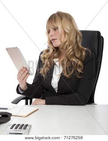 Young Businesswoman Using A Tablet-pc