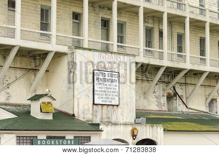 Alcatraz Island Sign, San Francisco, California
