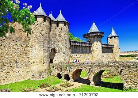 castle Carcassonne (France, Languedoc)