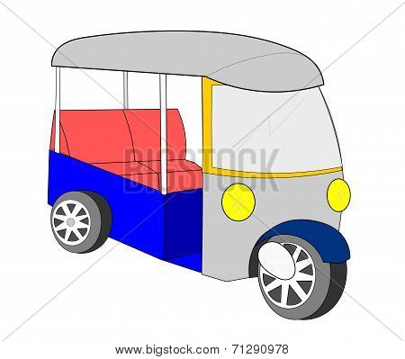 Tuk Tuk Thailand Cartoon