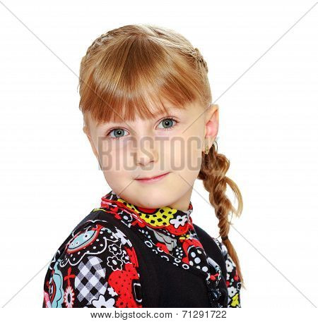Portrait of a cute young girl