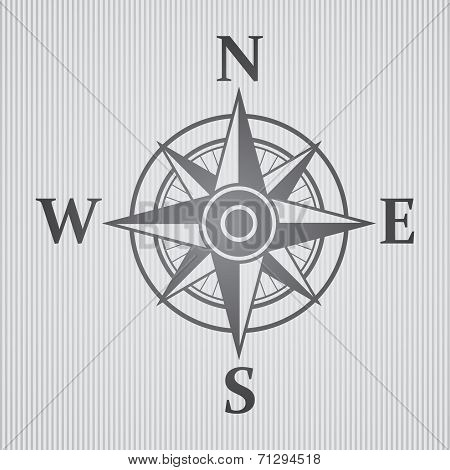 Wind rose gray