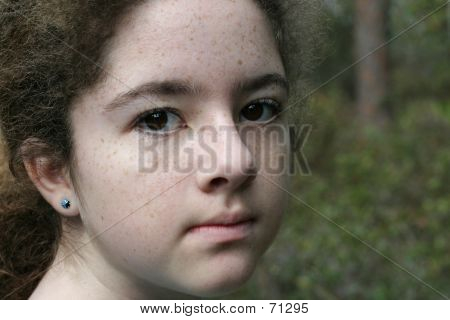 Intense Young Girl