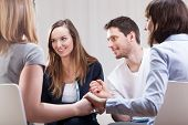 image of addict  - Young people happy and satisfied on group therapy for addicted
