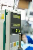 stock photo of intensive care unit  - Infusion Pump use for patient in intensive care unit - JPG