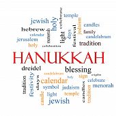 foto of hanukkah  - Hanukkah Word Cloud Concept with great terms such as dreidel jewish holy and more - JPG