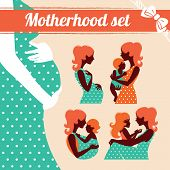 foto of babysitting  - Motherhood set - JPG