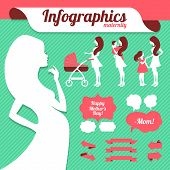 foto of babysitting  - Maternity infographics set - JPG