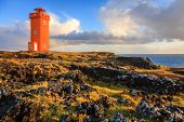 Lighthouse at Snaefellsnes Peninsula in western Iceland poster