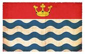 pic of greater  - Flag of the British county Greater London created in grunge style - JPG