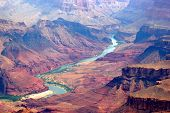 stock photo of grand canyon  - an image of Grand canyon and colorado river - JPG