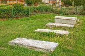 Old Jewish cemetery in Pristina poster