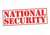 image of over counter  - NATIONAL SECURITY red Rubber Stamp over a white background - JPG