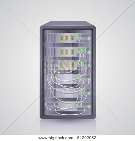Server icon. Vector
