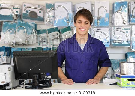 Portrait Of The Owner Of A Building Supplies Store