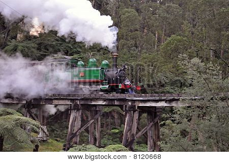 Puffing Billy in den Hügeln