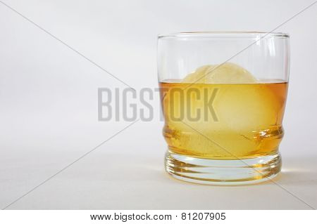 Whiskey on Ice in Glass