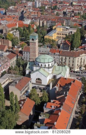 ZAGREB, CROATIA - OCTOBER 14: Church of Saint Blaise in Zagreb on October 14, 2007 Zagreb, Croatia.