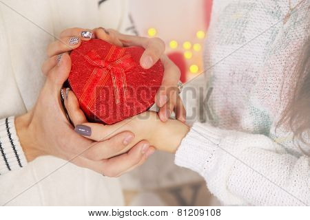 Holding Gift