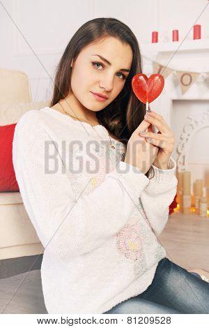 Brunette With A Lollipop