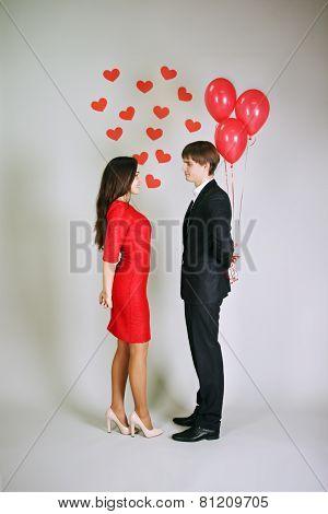 Man Giving Balloons