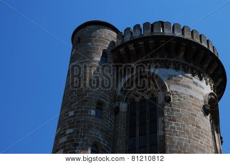 tower castle with sky
