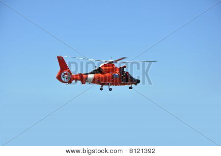Red Rescue helicopter