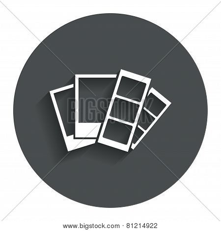 Photo frame template icon. Strips.