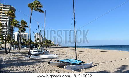 Ft.Lauderdale, Florida, January 2015 Catamaran on the Fort Lauderdale Beach