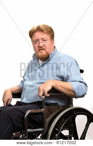 Man Disabilities In Wheelchair