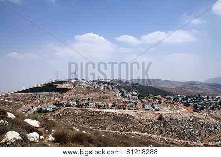 View Of The Jewish Settlement Of Elon Moreh In Samaria