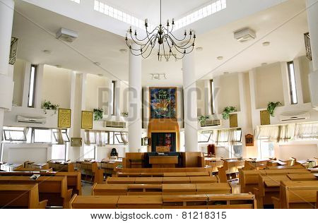 Interior Of The Ashkenazic Synagogue In Samaria
