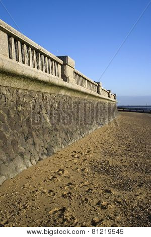 Promenade Wall At Southend-on-sea, Essex, England