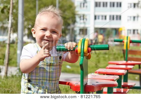 kid playing on playground