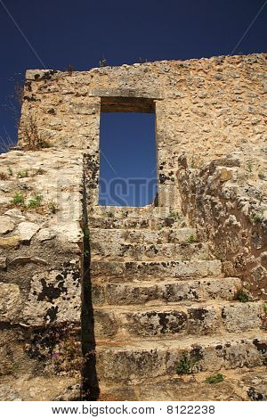 Steps Of Ayios Georgis Castle