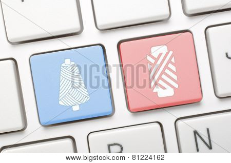 Thread key on keyboard