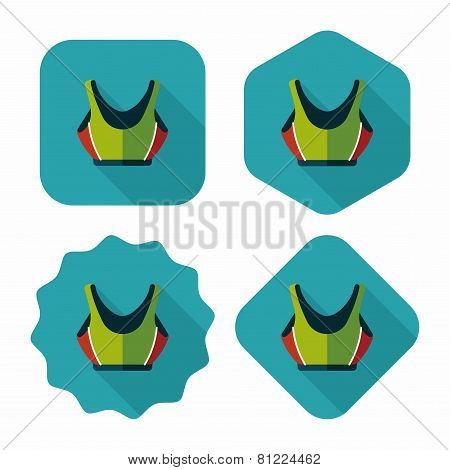 Swimming Suit Flat Icon With Long Shadow,eps10