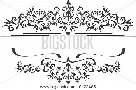 Decorative Ornament Border .  Graphic Arts.eps