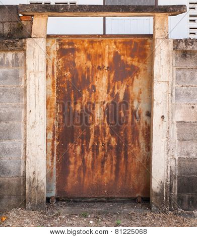 Old Metal Door With Rusty
