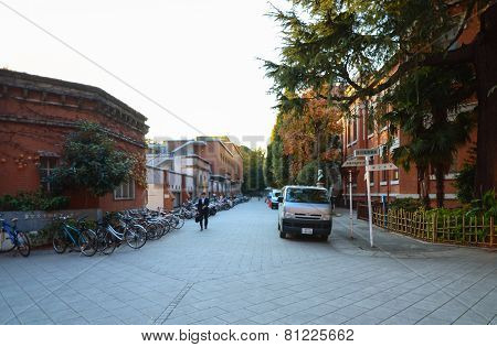 Tokyo, Japan - November 22, 2013: Students At University Of Tokyo, Abbreviated As Todai