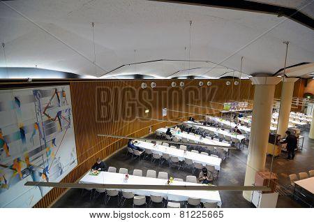 Tokyo, Japan - November 22, 2013: Students At Canteen In University Of Tokyo