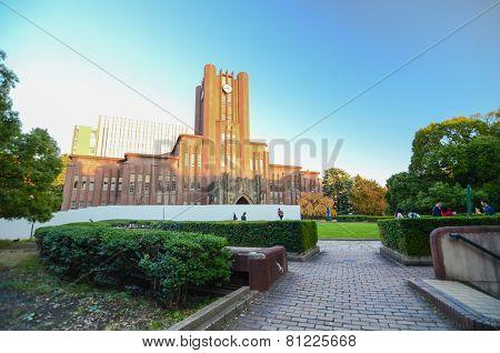 Tokyo, Japan - November 22, 2013: Students At Yasuda Auditorium Of The University Of Tokyo