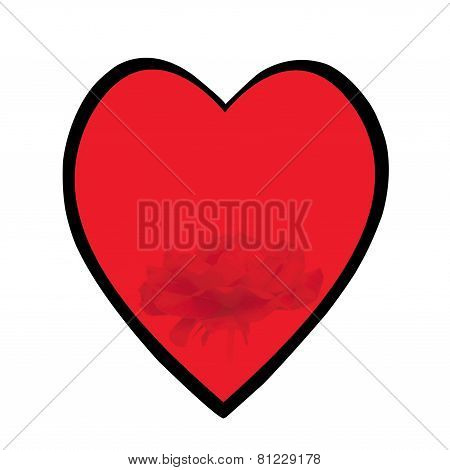 Heart With Black Surround