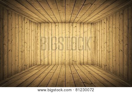 vintage wooden room with grunge boards