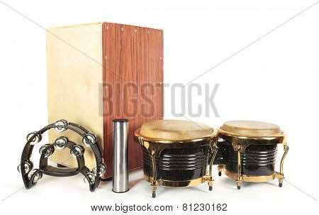 Set from music percussion instruments