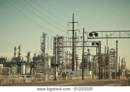 Oil Refinery In Denver, Colorado, Usa