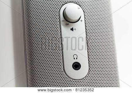 Computer Speaker Macro Shot